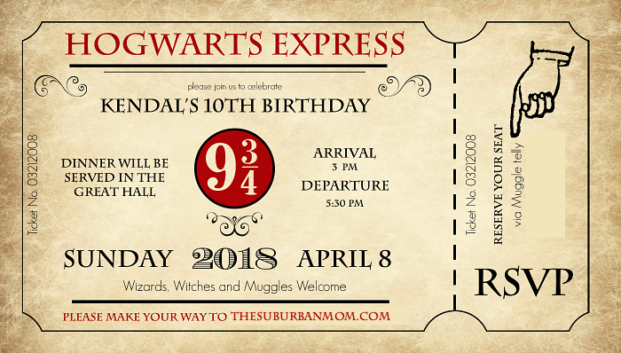 Harry Potter Birthday Invitation Template Inspirational the Ultimate Harry Potter Birthday Party Ideas