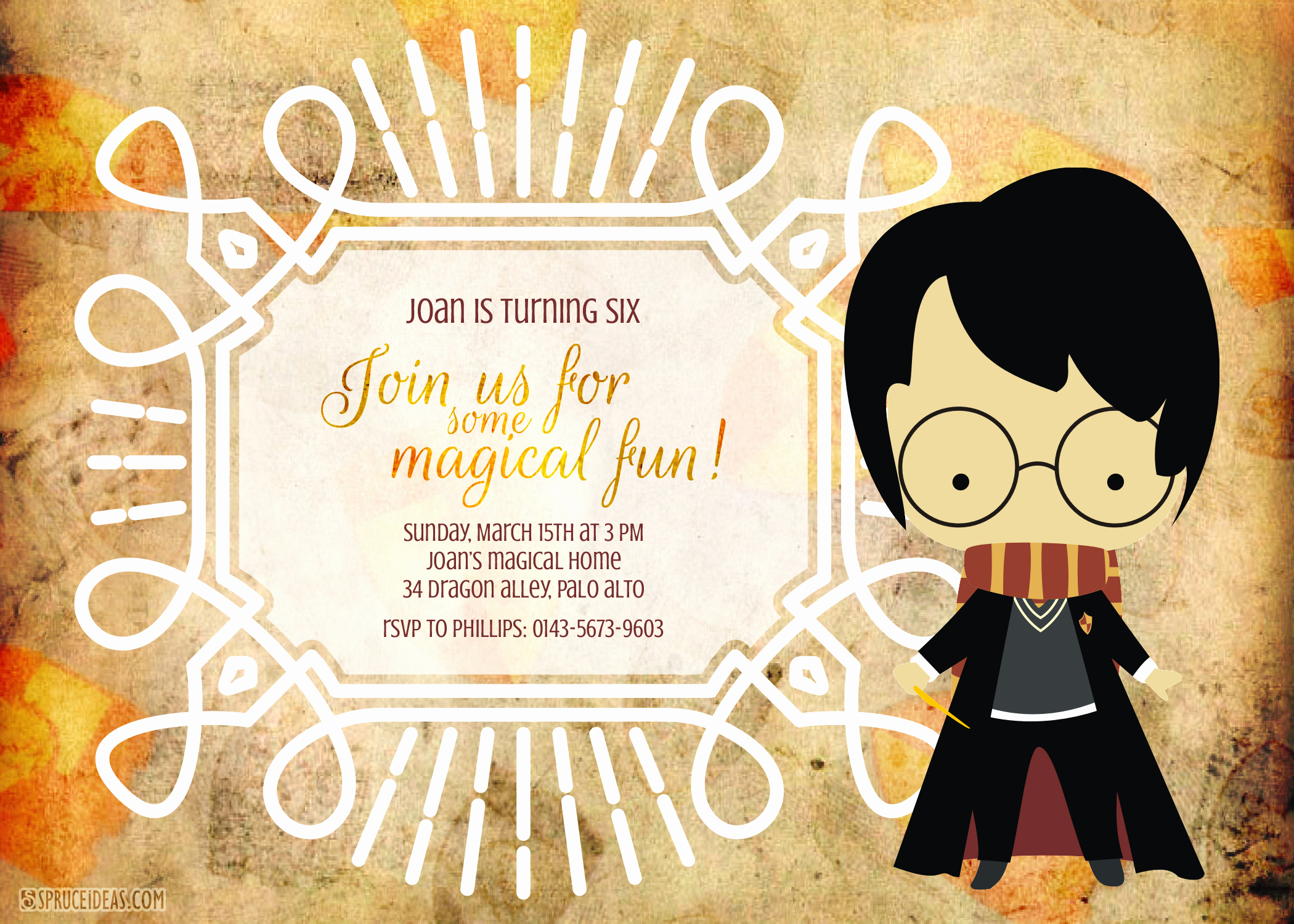 Harry Potter Birthday Invitation Template New Free Printable Harry Potter Birthday Invitation Template