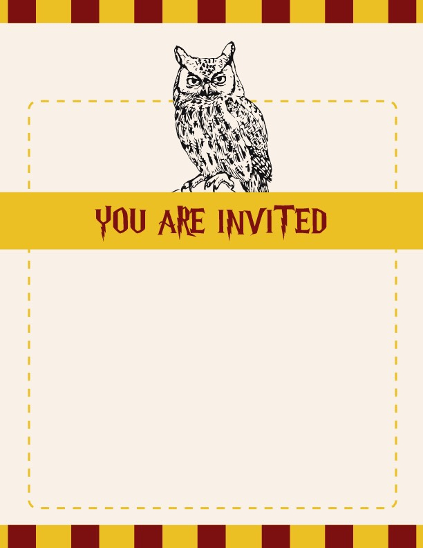 Harry Potter Birthday Invitation Template Unique Harry Potter Party Invitation Ideas