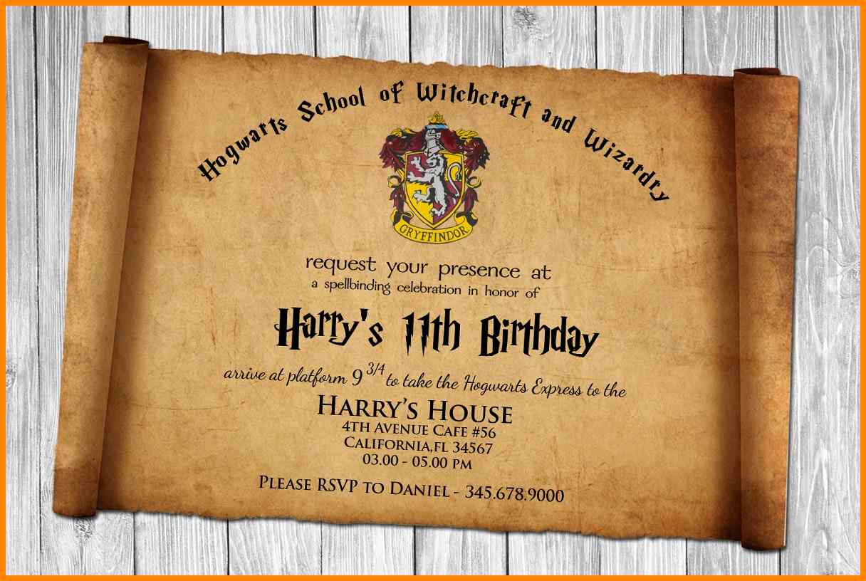 Harry Potter Birthday Invitation Wording Fresh Harry Potter Birthday Invitation Wording
