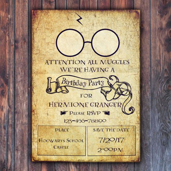 Harry Potter Birthday Invitation Wording Unique 25 Best Ideas About Harry Potter Invitations On Pinterest