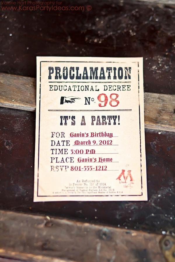 Harry Potter Birthday Party Invitation Beautiful Kara S Party Ideas Harry Potter Party Planning Ideas Cake