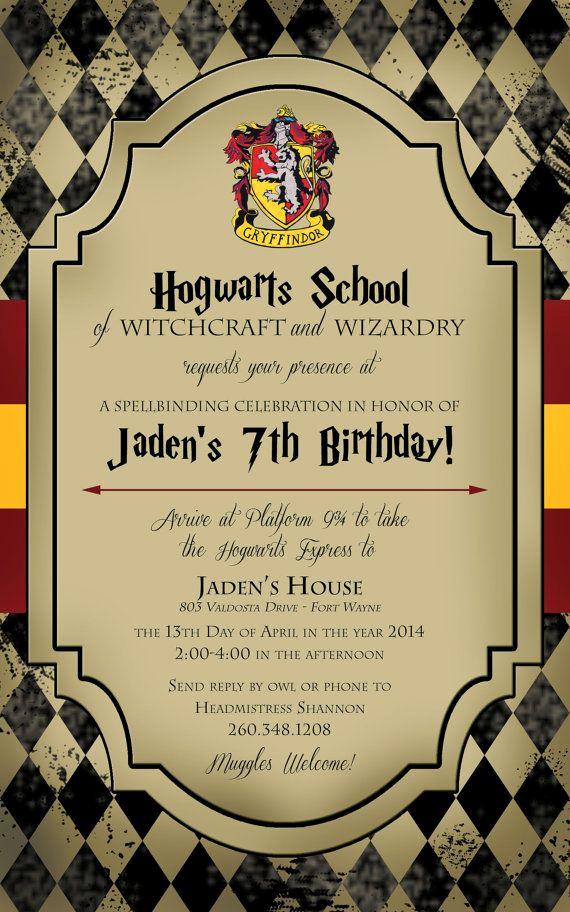 Harry Potter Birthday Party Invitation Best Of 25 Best Ideas About Harry Potter Invitations On Pinterest
