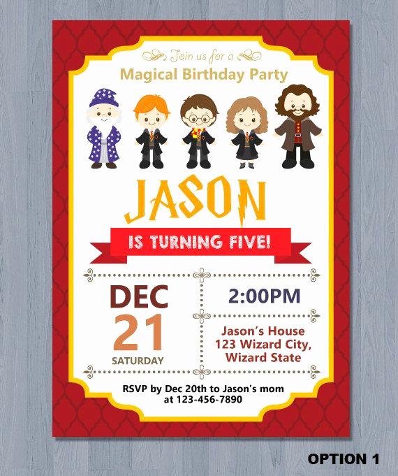 Harry Potter Birthday Party Invitation Fresh 1000 Ideas About Harry Potter Invitations On Pinterest