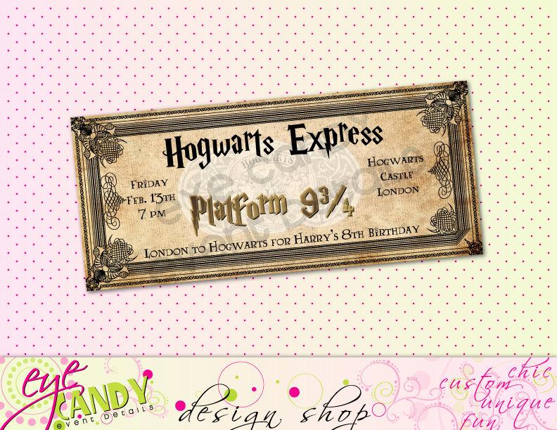 Harry Potter Birthday Party Invitation Inspirational Printable Harry Potter Inspired Hogwarts Birthday Party