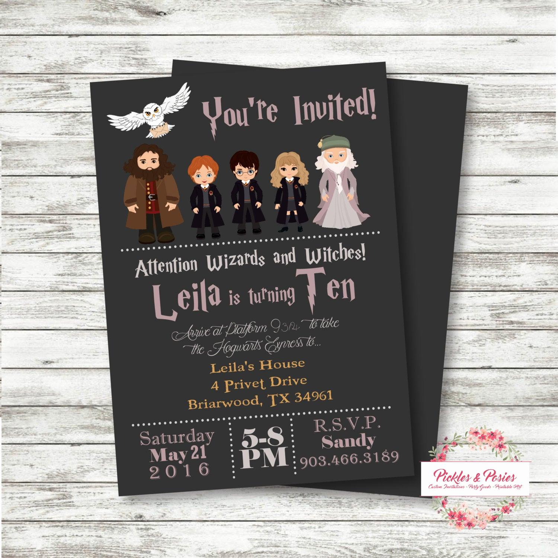 Harry Potter Birthday Party Invitation Luxury Harry Potter Birthday Invitation Invitation with