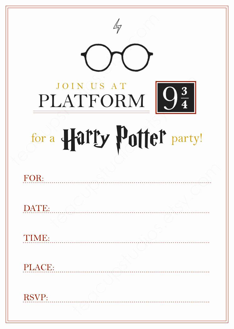 Harry Potter Birthday Party Invitation Unique Printable Harry Potter Invitation Pdf