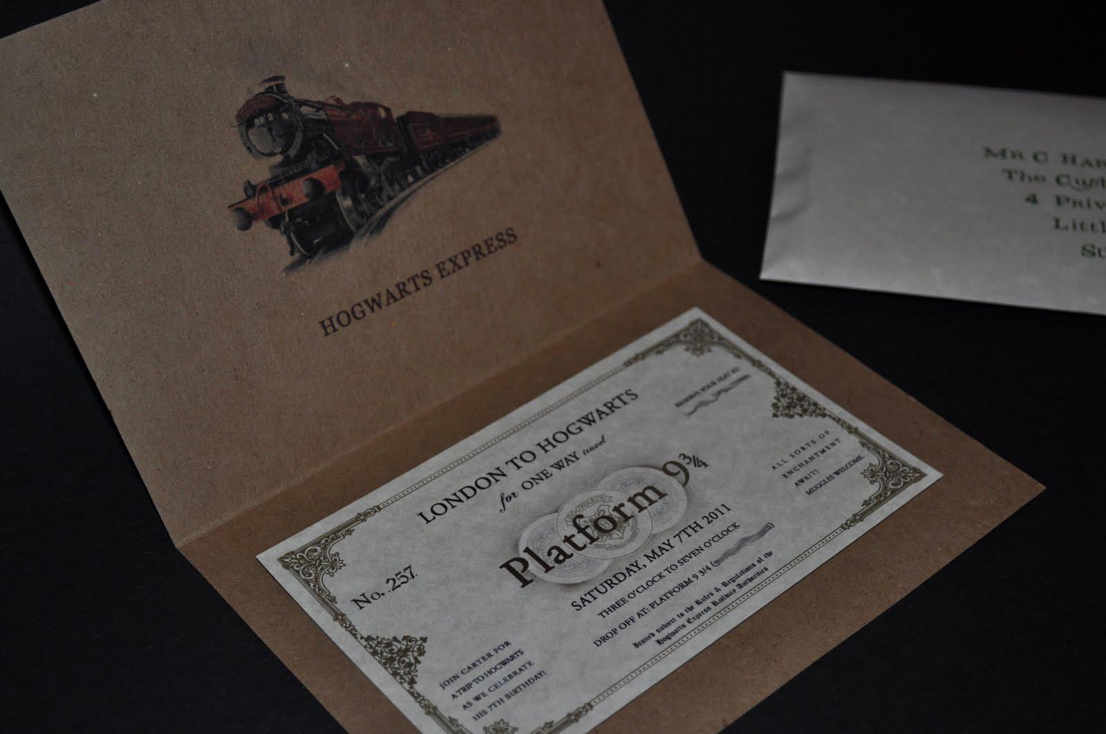 Harry Potter Birthday Party Invitation Unique Serendipity Design Studio Sneak Peek the Final