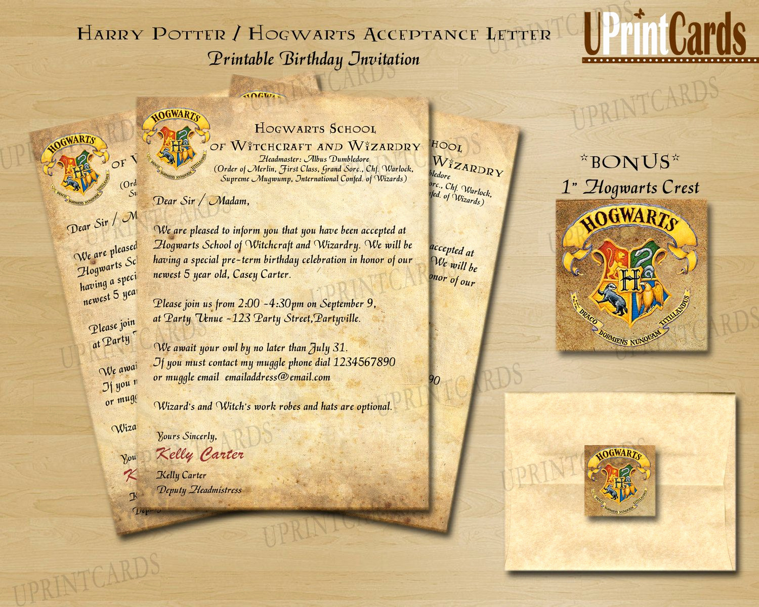 Harry Potter Hogwarts Invitation Awesome Diy Printable Harry Potter Inspired Acceptance by