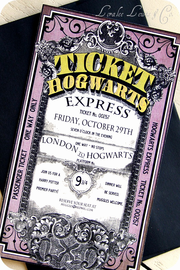 Harry Potter Hogwarts Invitation Awesome Harry Potter Party's