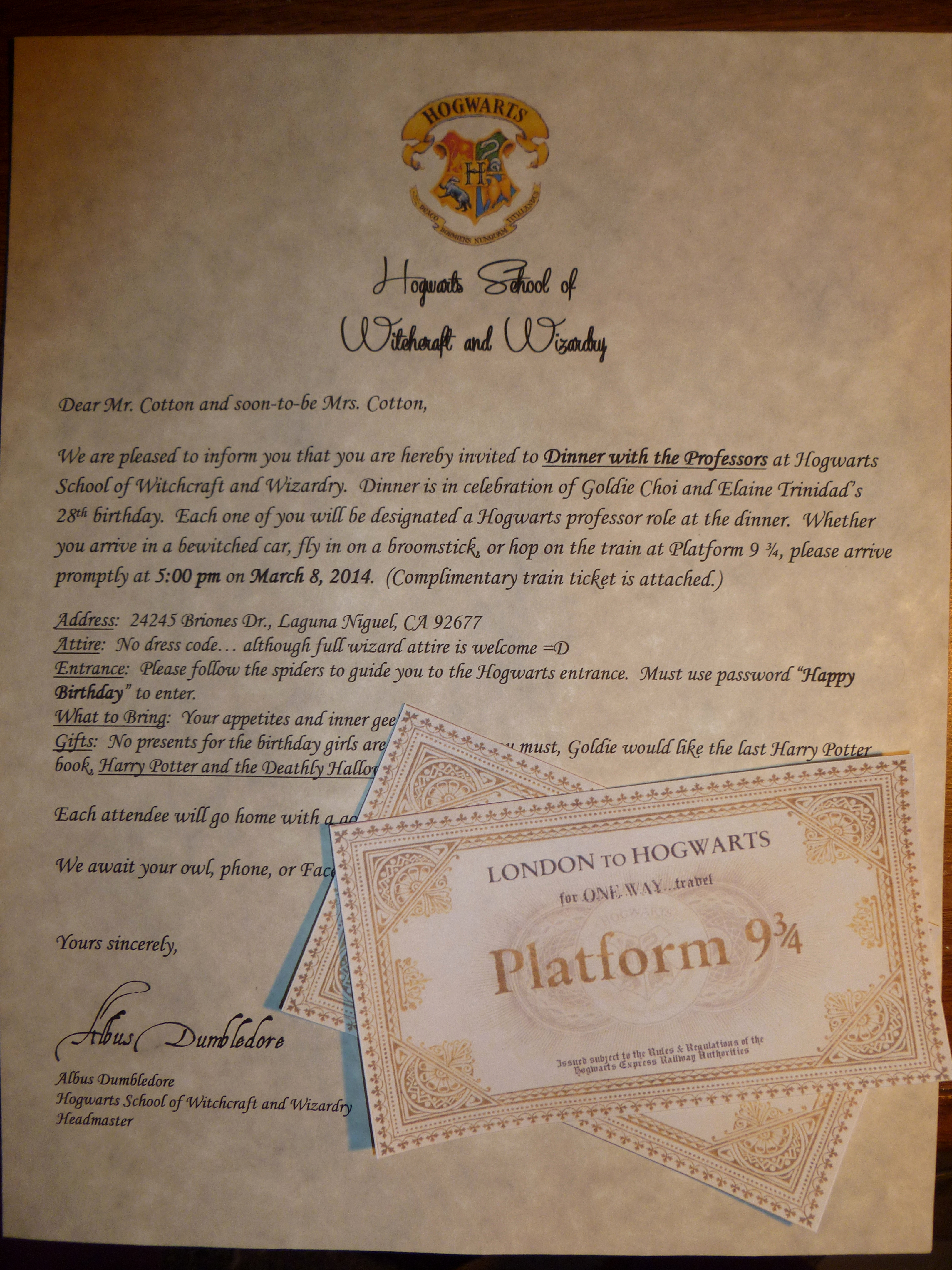 Harry Potter Hogwarts Invitation Lovely Owl Post Invitations — Harry Potter Party