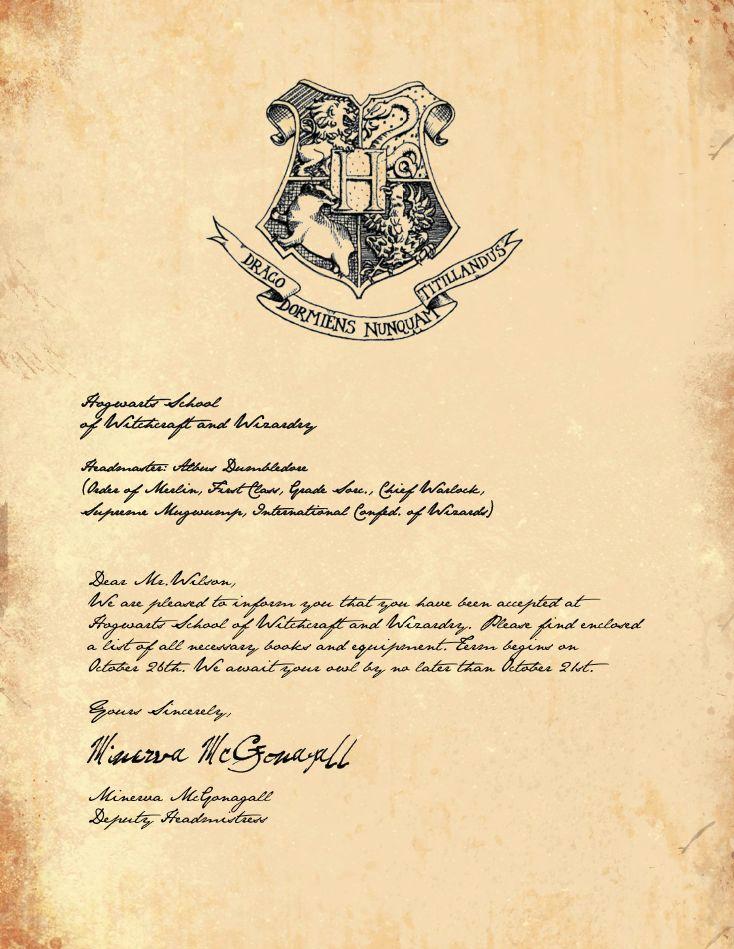 Harry Potter Hogwarts Invitation Unique Best 25 Hogwarts Letter Template Ideas On Pinterest