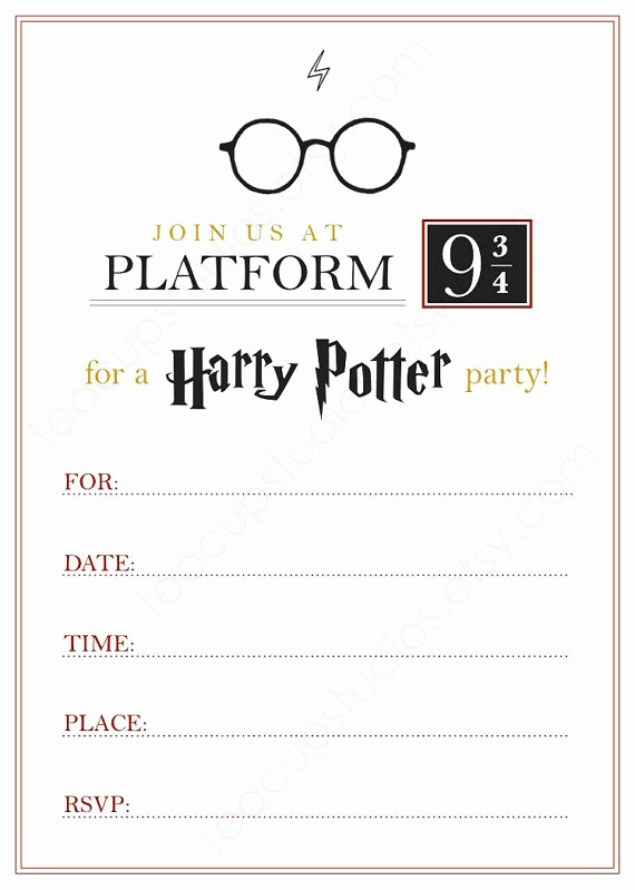 Harry Potter Invitation Ideas Elegant Best 25 Harry Potter Invitations Ideas On Pinterest