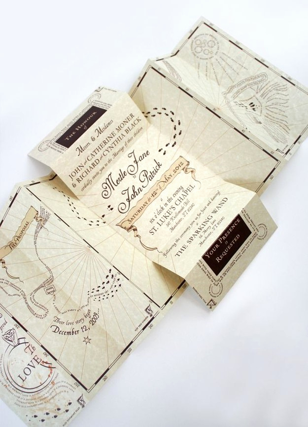 "Harry Potter Invitation Ideas Luxury 25 Pletely Magical ""harry Potter"" Wedding Ideas"