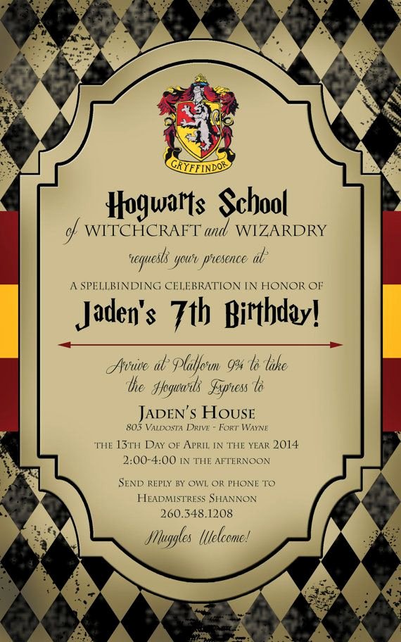 Harry Potter Invitation Ideas Luxury Best 25 Harry Potter Invitations Ideas On Pinterest