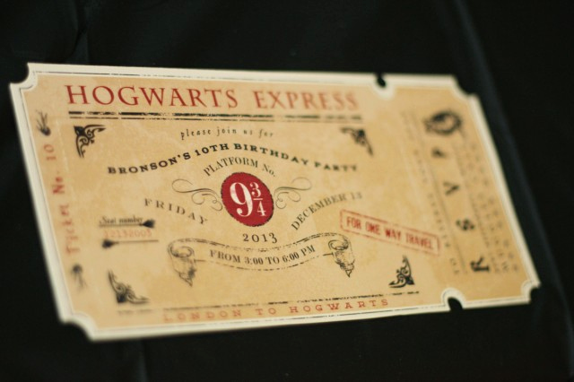 Harry Potter Invitation Ideas Unique A Magical Wizard Party for Harry Potter Lovers