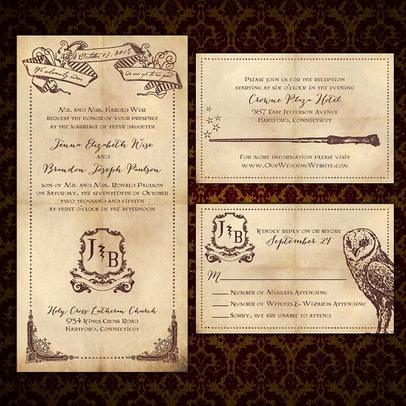 "Harry Potter Invitation Ideas Unique Custom ""we solemnly Swear"" Harry Potter Inspired Wedding"