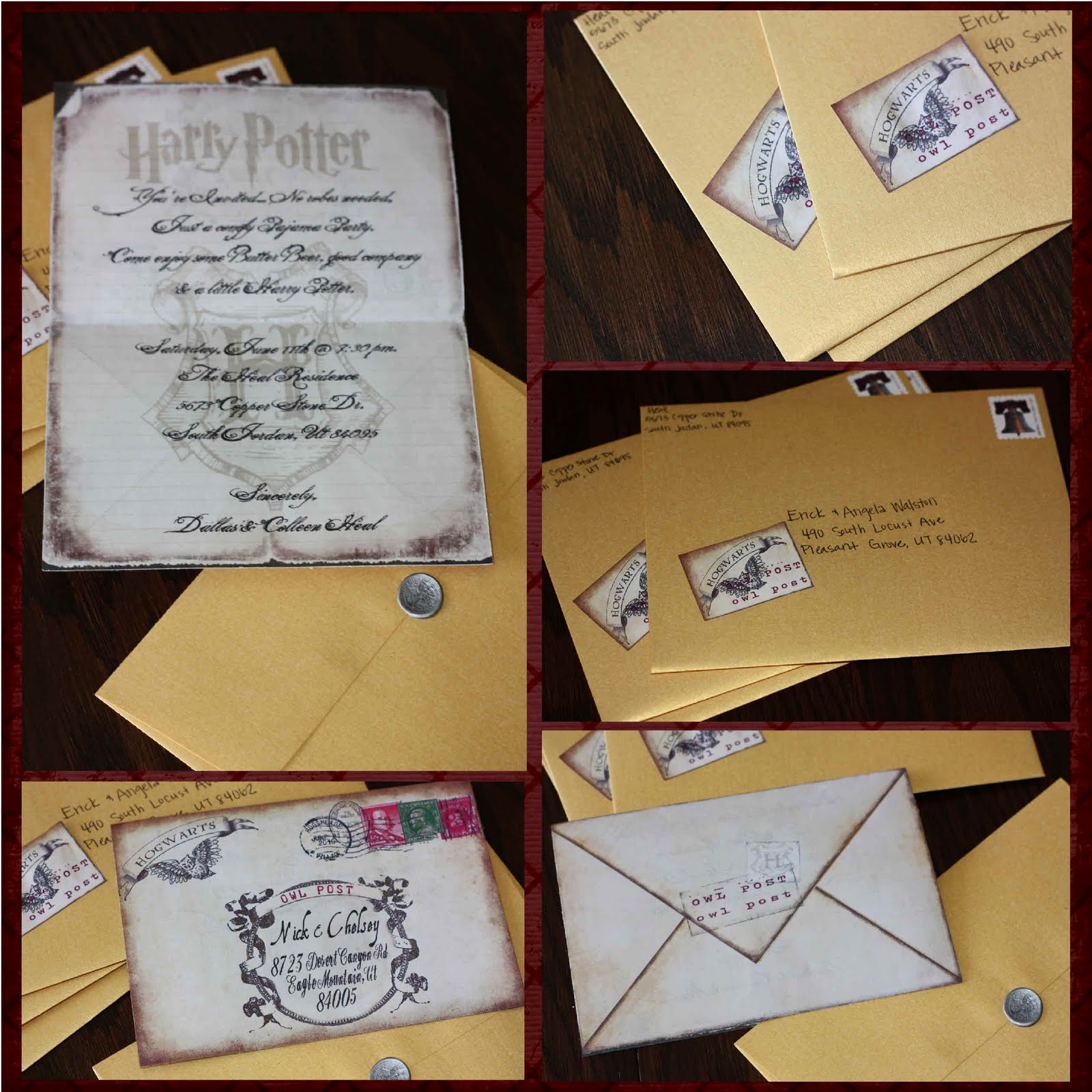 Harry Potter Invitation Ideas Unique Just Sweet and Simple Harry Potter Invites