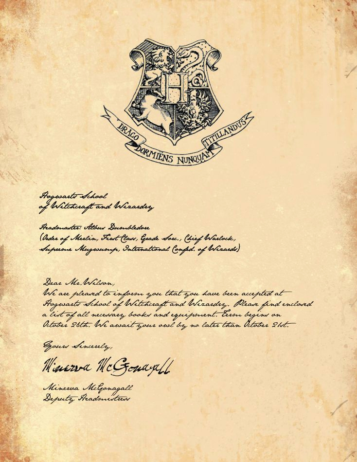 Harry Potter Invitation Letter Beautiful Best 25 Hogwarts Letter Template Ideas On Pinterest
