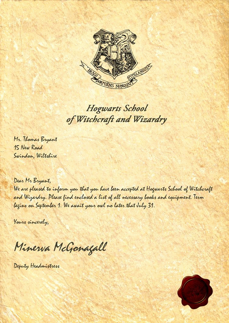 Harry Potter Invitation Letter Best Of Hogwarts Acceptance Letter by Legiondesign