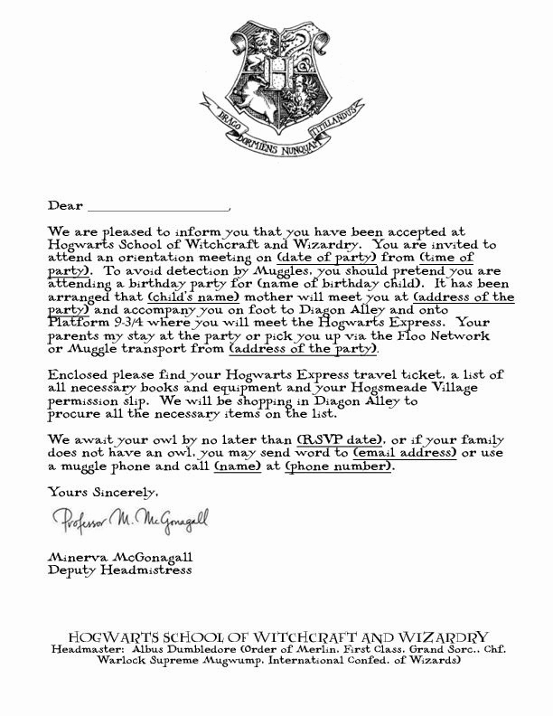 Harry Potter Invitation Letter Fresh Free Printable Hogwarts Invitation Template