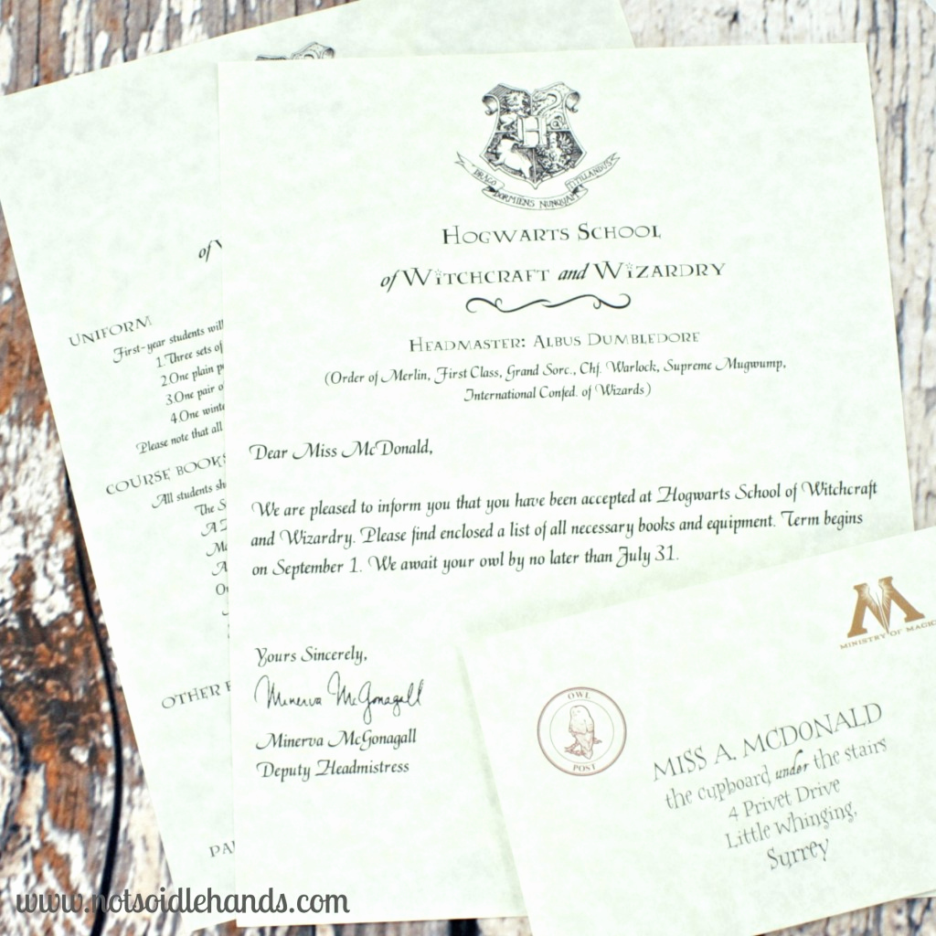 Harry Potter Invitation Letter Inspirational Harry Potter Birthday Invitations and Authentic Acceptance