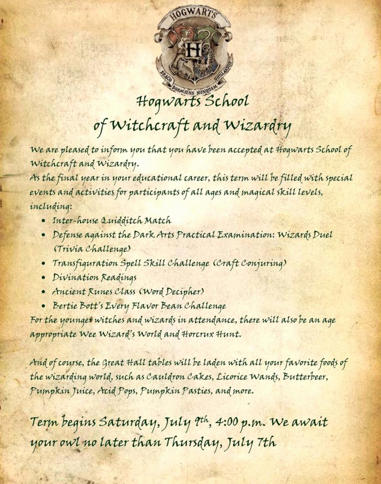 Harry Potter Invitation Letter Inspirational Harry Potter Birthday Party Invitation Wording