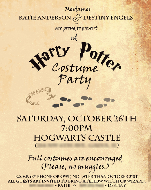 Harry Potter Invitation Letter Inspirational Harry Potter Party – Part 1 the Invites – Filthy Muggle