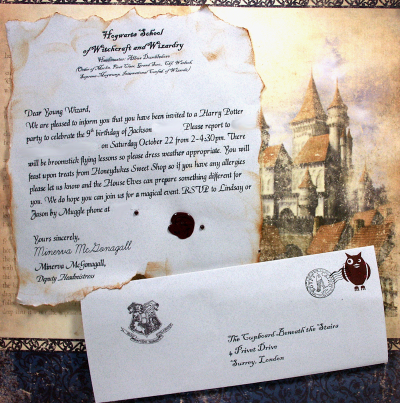 Harry Potter Invitation Letter Unique Platform 9 3 4… Aka A Harry Potter Party