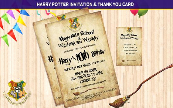 Harry Potter Invitation Template Awesome Harry Potter Invitation Harry Potter Birthday Harry Potter
