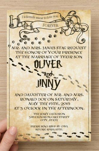 Harry Potter Invitation Template Beautiful 50 Printed Custom Harry Potter Book Page Marauders Map
