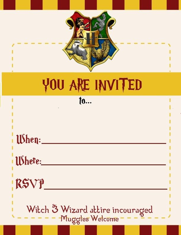 Harry Potter Invitation Template Free Beautiful Harry Potter themed Birthday Invite for Miss Kittys 11th