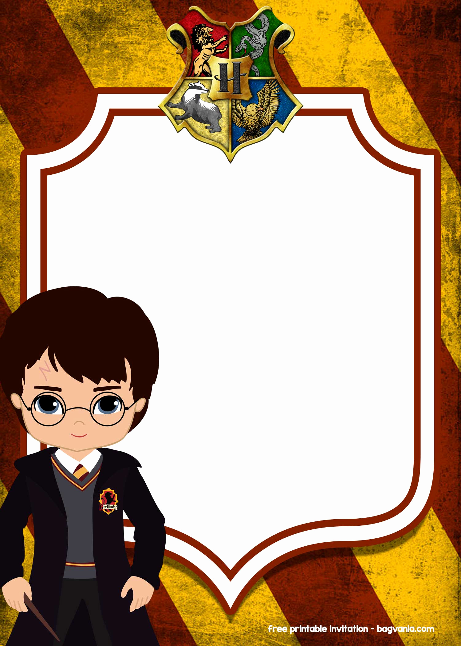 Harry Potter Invitation Template Free Best Of Free Printable Harry Potter Invitation Templates – Free