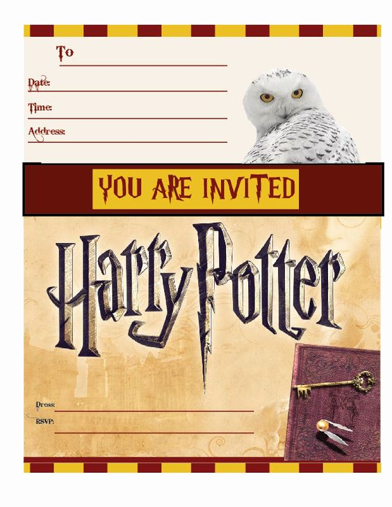 Harry Potter Invitation Template Free Best Of Harry Potter Invitations