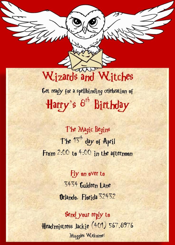 Harry Potter Invitation Template Free Fresh Harry Potter Invitation $10 00 Via Etsy