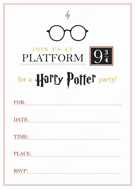 Harry Potter Invitation Template Free Lovely Printable Harry Potter Invitation Pdf