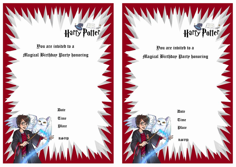 Harry Potter Invitation Template Free Luxury Harry Potter Birthday Invitations