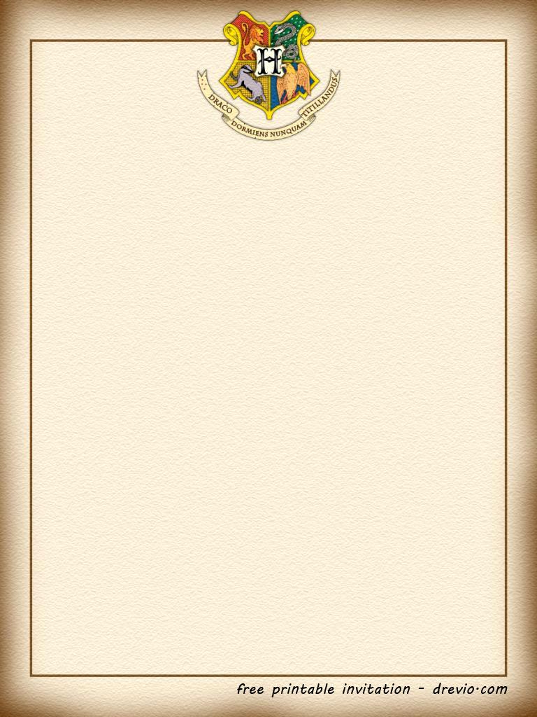 Harry Potter Invitation Template Free Unique Free Printable Harry Potter – Hogwarts Invitation Template