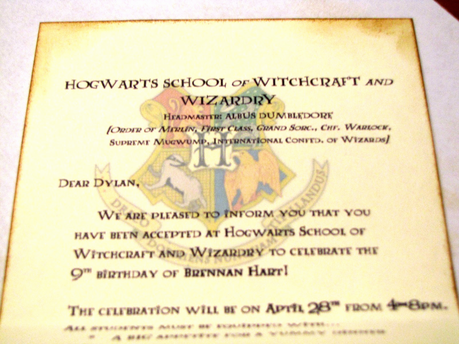 Harry Potter Invitation Template Inspirational Germerican Adventures Harry Potter Birthday Invitations