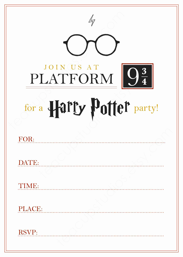 Harry Potter Invitation Template Inspirational Printable Harry Potter Invitation Pdf