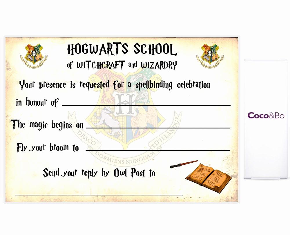 Harry Potter Invitation Template Luxury Harry Potter Ticket Invitation Template – Free Printable