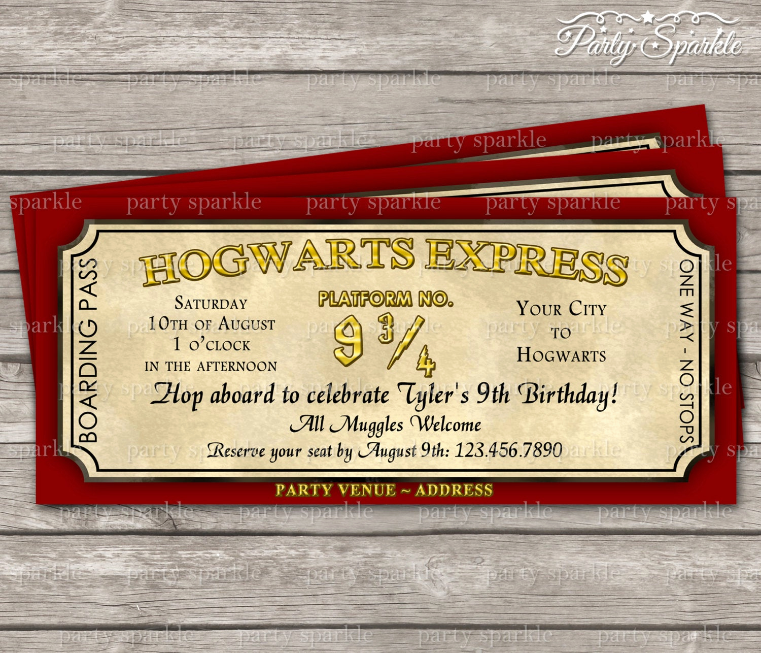 Harry Potter Invitation to Hogwarts Awesome Hogwarts Express Ticket Invitation Harry Potter by