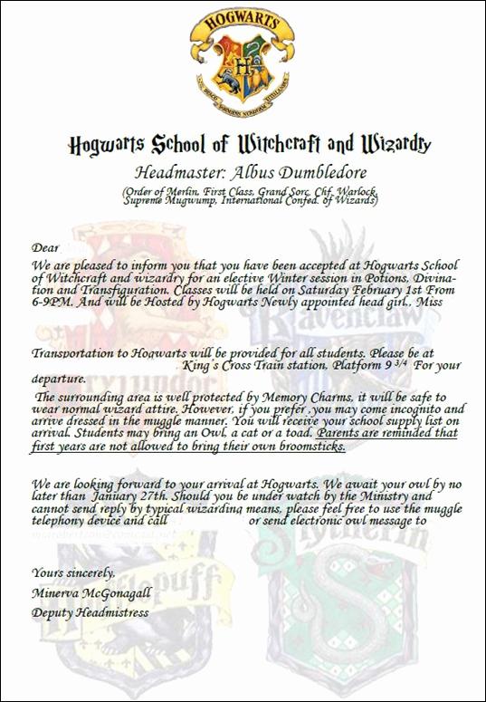 Harry Potter Invitation to Hogwarts Fresh 20 Harry Potter Party Ideas