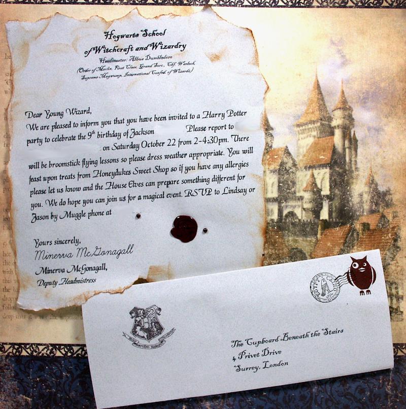 Harry Potter Invitation to Hogwarts Fresh Platform 9 3 4… Aka A Harry Potter Party