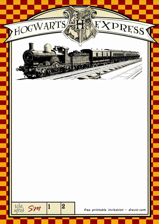 Harry Potter Invitation to Hogwarts Luxury Free Printable Harry Potter Hogwarts Invitation Template