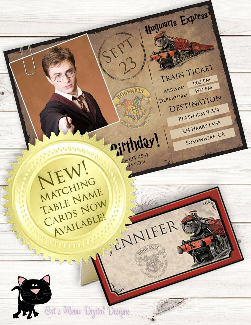 Harry Potter Invitation to Hogwarts Unique Hogwarts Harry Potter Printable Postcard Invitation
