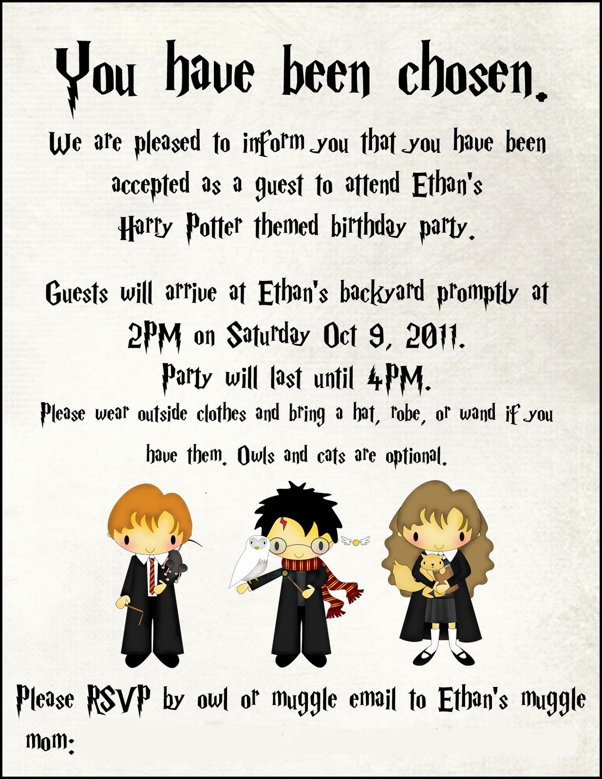 Harry Potter Party Invitation Awesome toad S Treasures Lifestyle Family Blog by Emily ashby