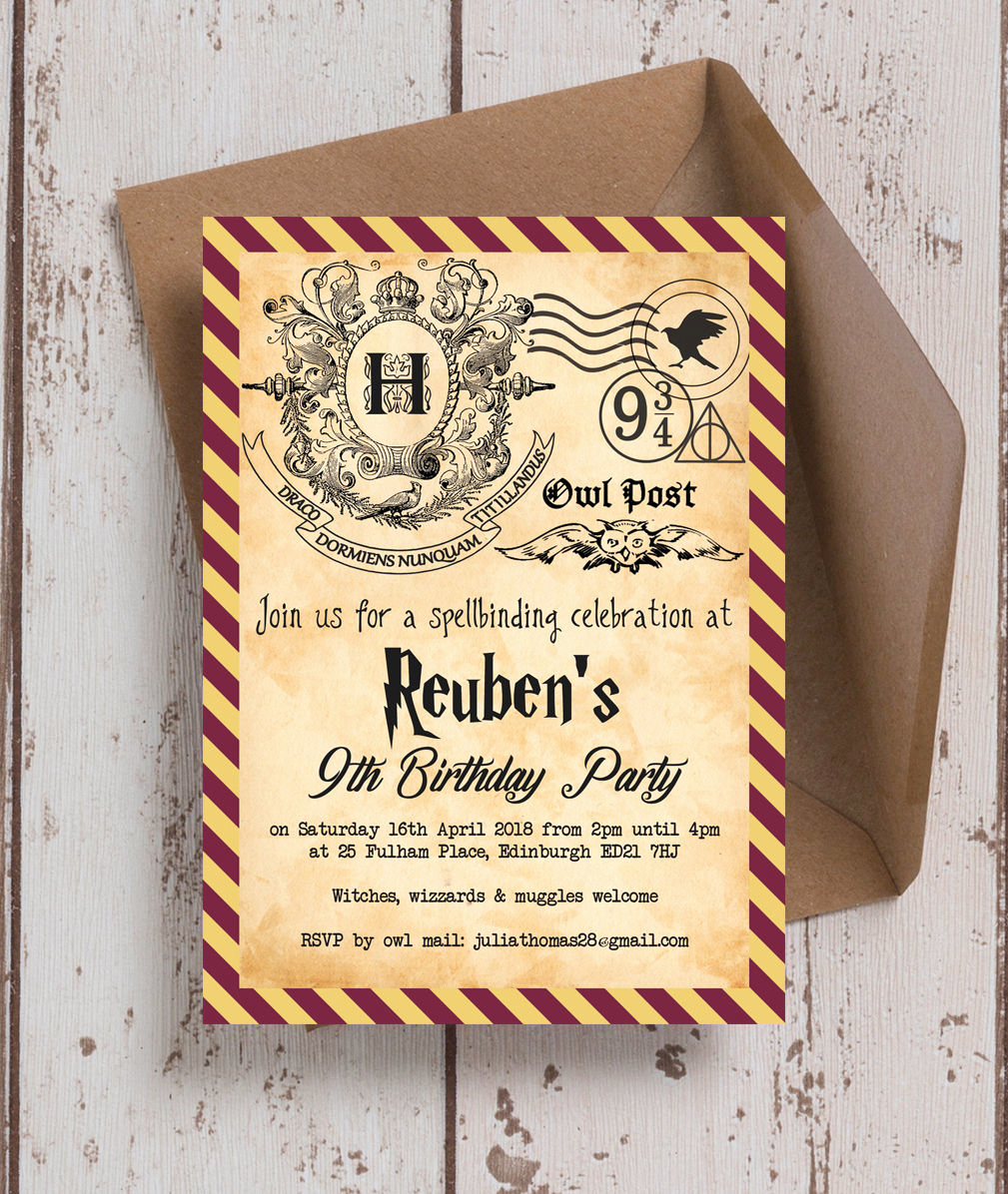 Harry Potter Party Invitation Fresh Harry Potter Ticket Invitation Template – Free Printable