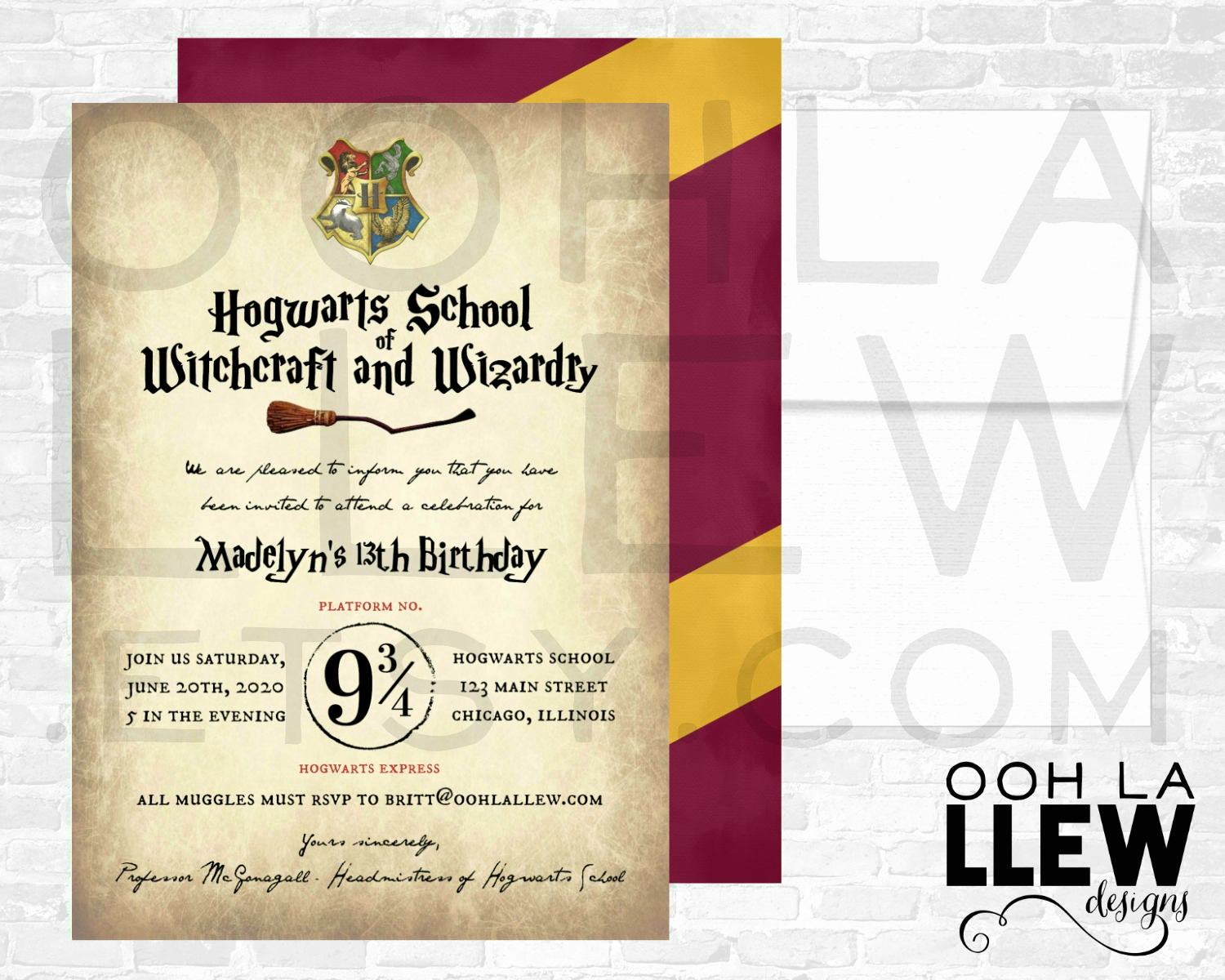 Harry Potter Party Invitation Lovely Harry Potter Invitation Harry Potter Birthday Harry Potter