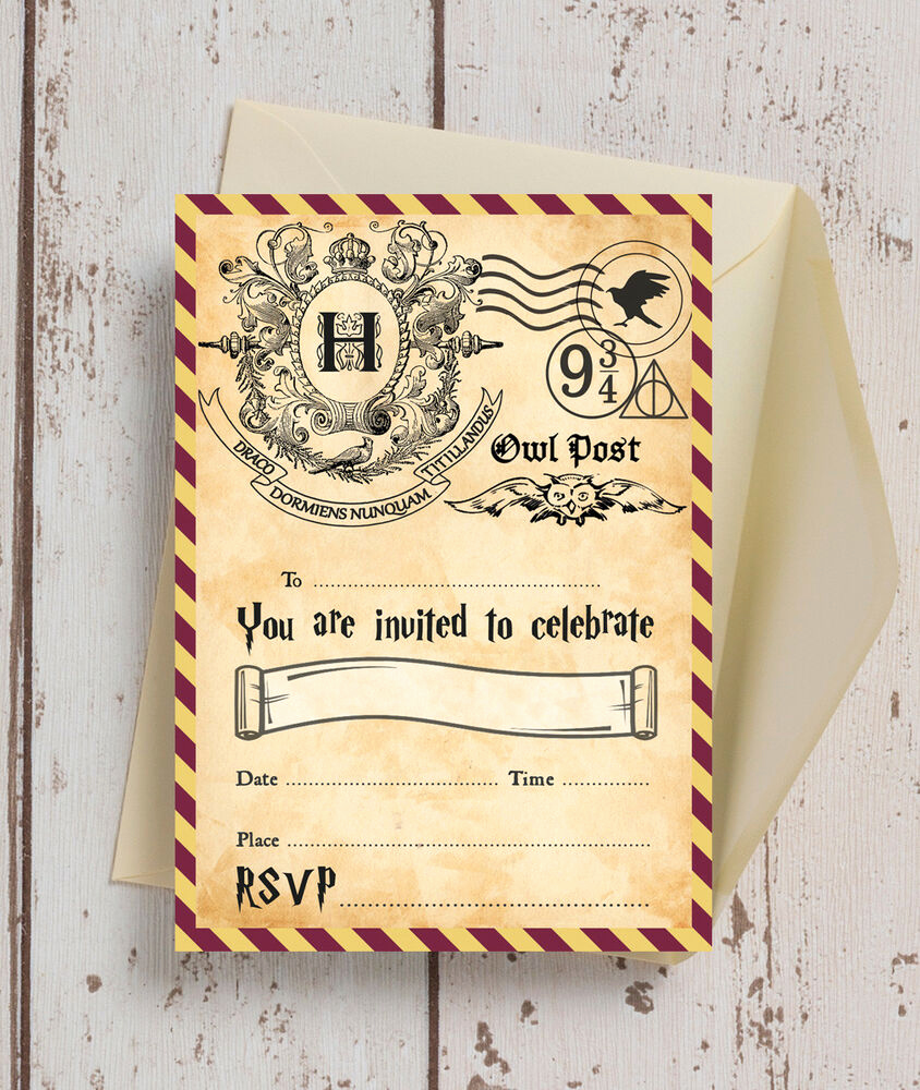 Harry Potter Party Invitation Lovely Pack Of 10 Harry Potter Wizards Kids Teen Birthday Party